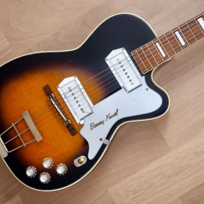1950s Kay Barney Kessel Pro K1700 Vintage Electric Guitar w/ Kleenex Box P-35, Kelvinator & Case for sale