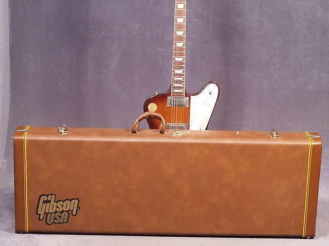 Gibson USA Firebird HP HARDSHELL CASE Guitar American Brown Tolex Firebird