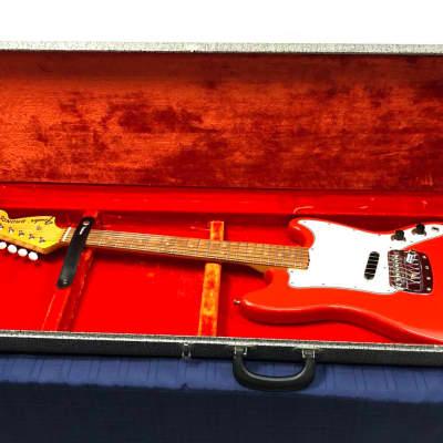 Vintage Fender Bronco 1968 Fiesta Red Electric Guitar with Original Case for sale