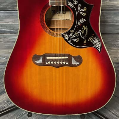 Used Columbus Left Handed WH-59 Acoustic Japanese Made Acoustic with Case for sale