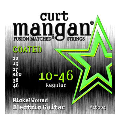 Curt Mangan Nickel Wound COATED Strings - 10.46 - QUICK SHIPPING