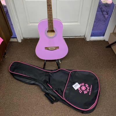 DAISY ROCK Debutante Junior Miss 3/4 size acoustic GUITAR w/ Gig Bag Popsicle Purple Local Pickup for sale