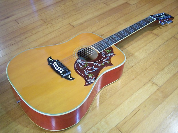Ventura V 24 12 String Hummingbird Mij Acoustic Guitar Reverb