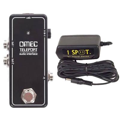 Orange OMEC Teleport Interface Pedal  w/ Truetone 1 Spot Space Saving 9v Adapter Bundle