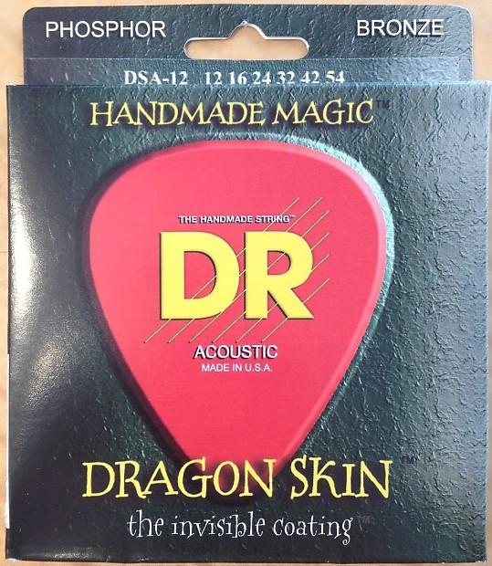 DR Handmade Dragon Skin Coated Acoustic Guitar Strings DSA-12; gauges 12-54