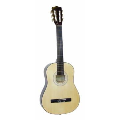 Dimavery AC-300 AC-300 Konzertgitarre, 1/2, natur for sale