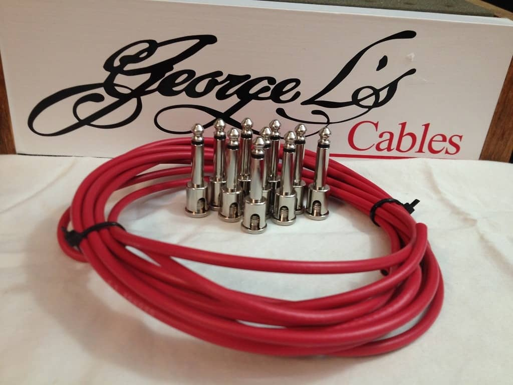 New George L 155 Pedalboard Effects Cable Kit 155 Red