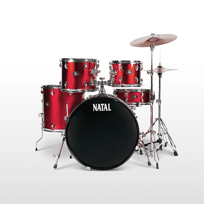 """Natal DNA 22x18 / 16x16 / 10x8 / 12x9 / 14x5.5"""" 5pc Drum Kit with Cymbals and Hardware"""