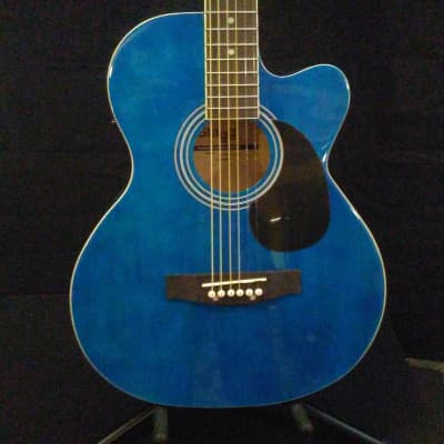 Stagg Stagg SA20ACE Blue Acoustic / Electric Guitar W/ Gig Bag for sale