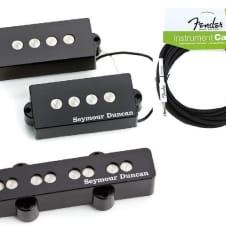 Seymour Duncan Quarter Pound PJ Precision P Jazz Bass Pickup Set SPB-3 & SJB-3 ( FENDER 18FT CABLE )