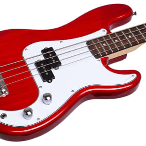 Jay Turser Electric Bass Guitar Short Scale JTB-40-TR Transparent Red NEW for sale