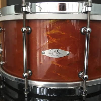 C&C snare drum 2016 Root Beer Abalone