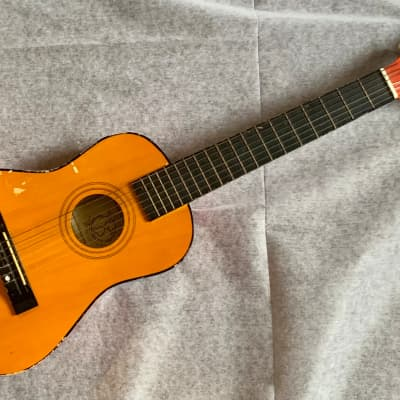 WOODSTOCK Music Collection Vintage Acoustic Travel/Mini/Kid/Half Guitar Fair Condition for sale