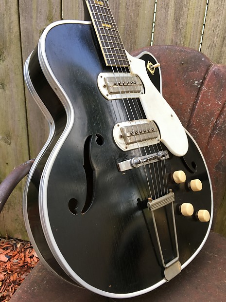 1955 harmony silvertone espanada electric archtop guitar with reverb. Black Bedroom Furniture Sets. Home Design Ideas
