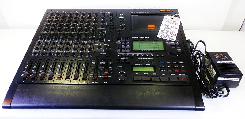 TASCAM MIDIStudio 644 CASSETTE MULTITRACK Recorder with the Original TASCAM  Power Supply:-NON-WORKING!