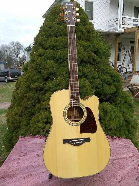 Ibanez Artwood AW32ECE-NT Natural Acoustic/Electric w  Gig Bag & Pro Setup