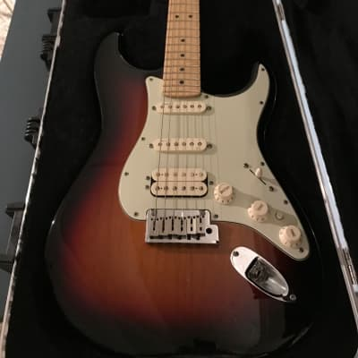 Fender American Deluxe HSS Stratocaster 2012 3 color sun burst for sale