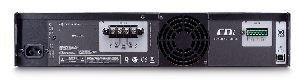 Crown CDi1000 Two-channel, 500W @ 4 Ohms, 70V/140V Power Amplifier