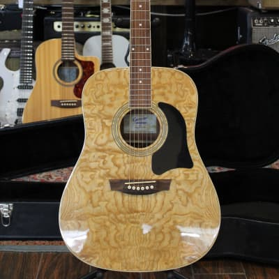 Garrison AG-300 Quilted Ash Dreadnaught  2000s Natural for sale