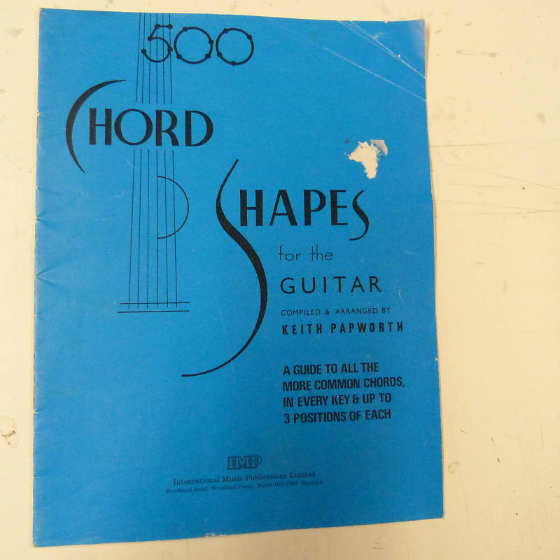 Guitar 500 Chord Shapes For Guitar Keith Papworth Reverb