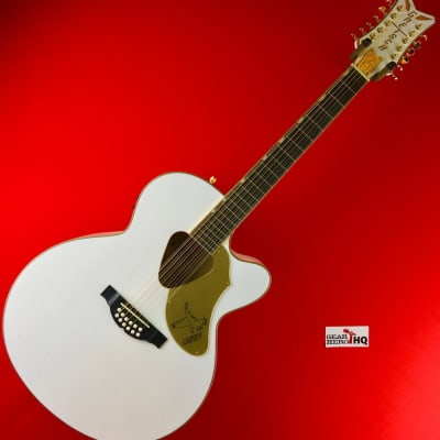 [USED] Gretsch G5022CWFE-12 Rancher Falcon Acoustic Electric, White (See Description).