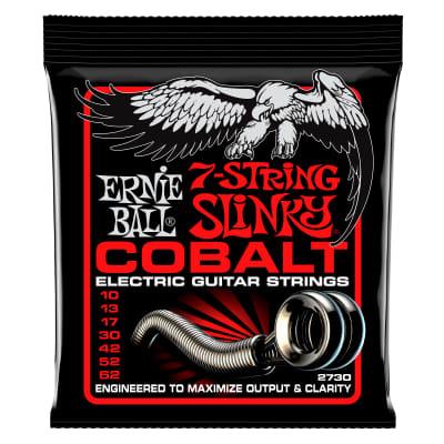 Ernie Ball 2730 Cobalt 7-String Skinny Top Heavy Bottom Strings (Gauge 10-62)