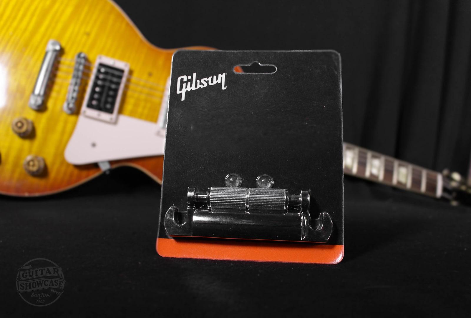 Gibson Stop Tailpiece /w Studs [Nickel]