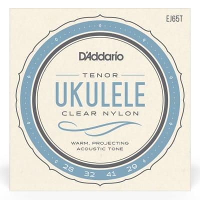 D'Addario EJ65T Clear Nylon Ukulele Strings, Tenor