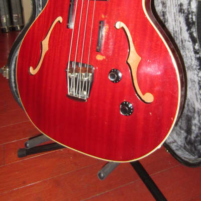 Vintage 1967 Guild Starfire Bass Cherry Red w/ Original Case for sale