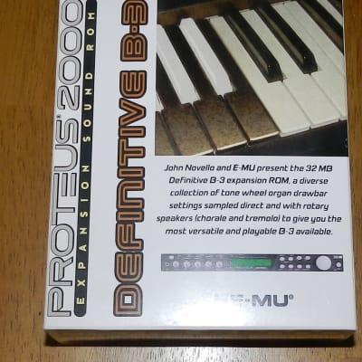 E-MU EMU Ensoniq Definitive B-3 ROM for Proteus 2000 2500 etc.