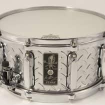 "Tama Lars Ulrich 6.5x14"" Signature Diamond Plate Steel Snare 2010s image"