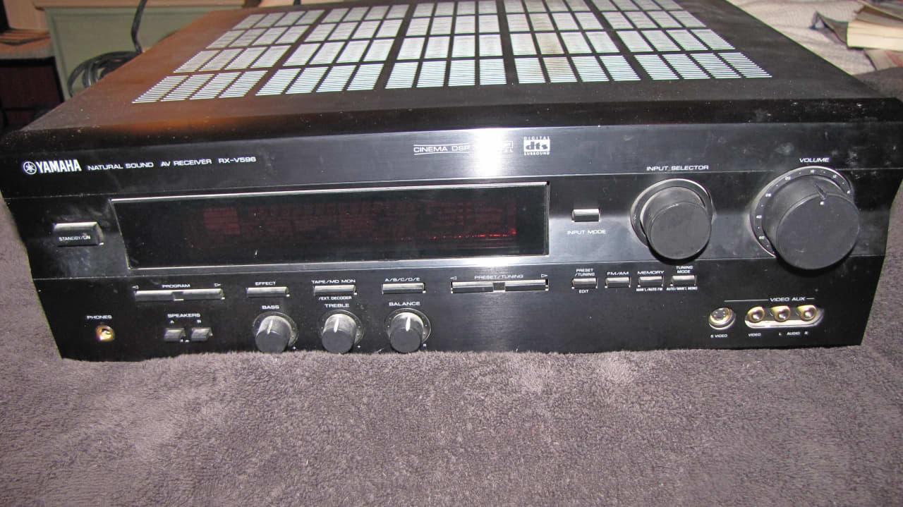 yamaha rx v596 audio video receiver velvet lightning reverb. Black Bedroom Furniture Sets. Home Design Ideas
