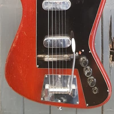 Fenton Weill 1964 Dualmaster Electric Guitar, Cherry Stain for sale