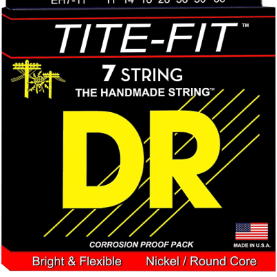 DR-  EH7-11,  7 string guitar set, 11-14-18-28-38-60