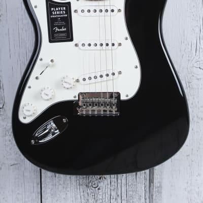 Fender® Player Stratocaster Left Handed Electric Guitar Lefty Strat Black Gloss