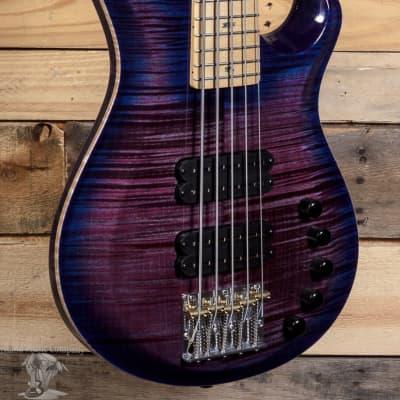 PRS Grainger 10-Top 5-String Violet Blue Burst Electric Bass w/ Case for sale