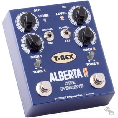 T-Rex Engineering Alberta II Dual Overdrive Effect Pedal for Electric Guitar or Bass