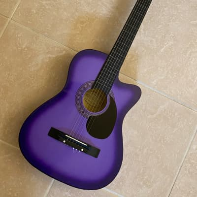 Purple 3/4 Scale Classical Guitar by Crescent for sale
