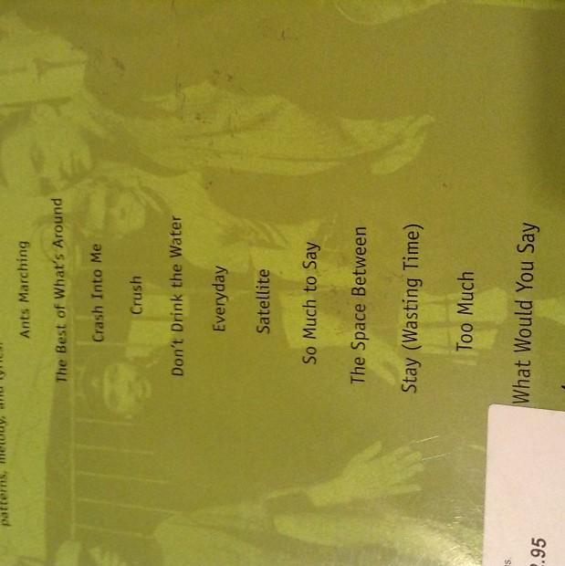 Dave Matthews Band Guitar Song Book / free shipping   Reverb