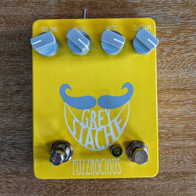 Fuzzrocious Grey Stache with Diode and Momentary Oscillation Mods YELLOW