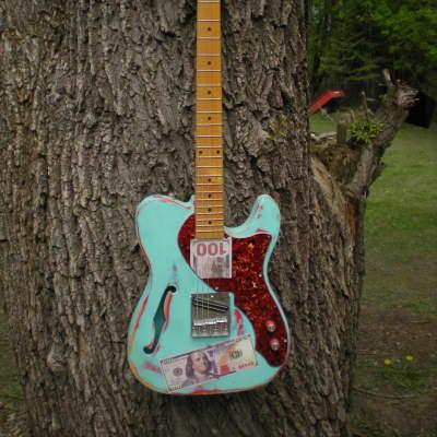 Xavier Tele thinline custom guitar one of a kind semi hollow
