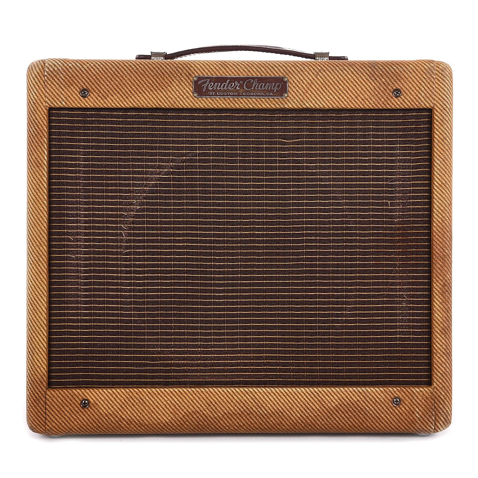 Fender Tweed Amp >> Fender Custom Shop Master Built 1957 Champ 1x10 Relic Tweed Department Of Corrections Used