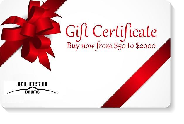 Klash Drums Gift Certificate