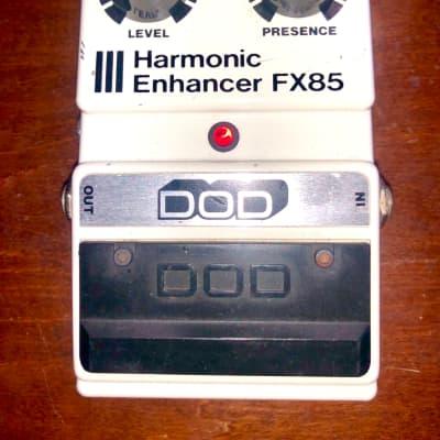 DOD FX85 Harmonic Enhancer pedal 1985 White treble boost gain drive vintage RARE!!! for sale