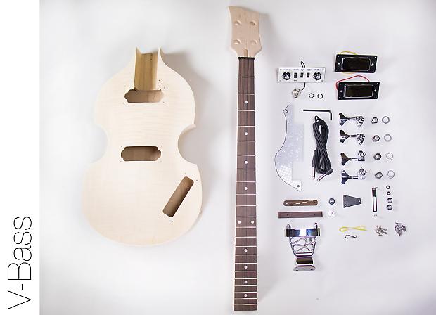 the fretwire diy electric bass guitar kit violin bass build reverb. Black Bedroom Furniture Sets. Home Design Ideas