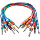 """SEISMIC AUDIO 10 PACK 18"""" TRS 1/4"""" Colored Patch Cables"""