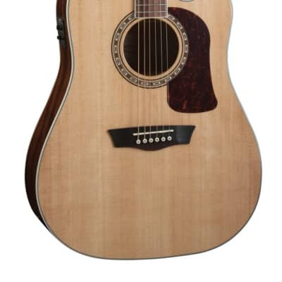 Washburn D10SCE Heritage 10 Series Dreadnought Cutaway Acoustic Electric Guitar Natural HD10SCE-O for sale