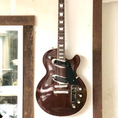 Greco PE-520 Single Cutaway Recording Guitar 1970s Vintage MIJ 1970s Walnut