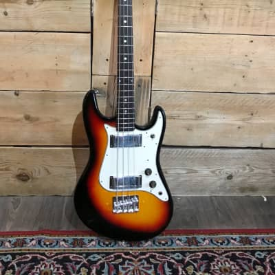DIA Matsumoko Long Scale Bass Guitar 1970s Sunburst for sale