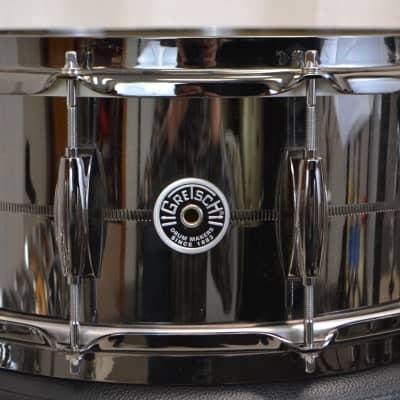 Gretsch 6.5x14  Snare Drum - Black Nickel Over Brass